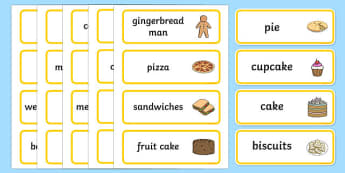 Bakery Word Cards - Bakery Role Play Pack, Word cards, Word Card, flashcard, flashcards,baker, oven, bread, great fire of london, buns, customer, role play, display, poster