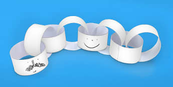 Blank Editable Paper Chain - blank, editable, paper chain, chain