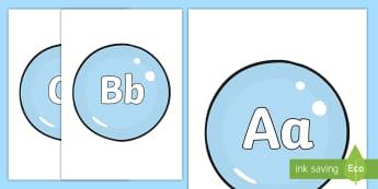 A-Z Alphabet on Bubbles Display Cut-Outs - A-Z Alphabet on Bubbles - A-Z, A4, display, Alphabet frieze, Display letters, Letter posters, A-Z le