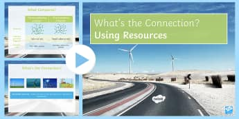 Using Resources What's the Connection? PowerPoint - KS4 What's the Connection?, Resources, Earth's Resources, Renewable, Leaching, Bioleaching, Electr