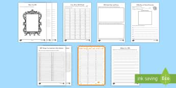 100th Day of School Writing Resource Pack - 100th Day of School, USA, english, literacy, grade 2, grade 3, grade 4, grade 5, kindergarten, ameri