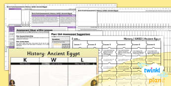 History: Ancient Eygpt LKS2 Unit Assessment Pack