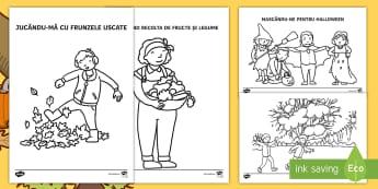 Activități de toamnă Fișe de colorat - arte, motricitate fină,, desene  activități de toamnă, fișe,Romanian