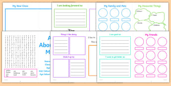 All About Me KS1 Activity Booklet - KS1 New Class Activities