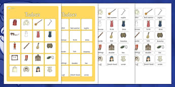 The Tudors Vocabulary Matching Mat - the tudors, vocabulary, matching mat, word mat, vocabulary mat, vocab mat, keyword, key word mat, the tudors vocab