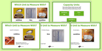 Maths Intervention Capacity Unit Posters - SEN, special needs, intervention, maths, measure, capacity