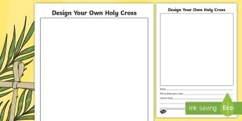 Lent Holy Cross Activity Sheet-Irish - Aistear, Infants, English Oral Language, Worksheet, Lent, Easter, ROI, Religion, Holy Cross.,Irish