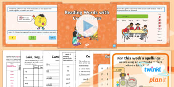 PlanIt English Y1 Term 3B W5: Read Words with Contractions Spelling Pack - Spellings Year 1, Term 3B, W5, reading, contractions, apostrophe