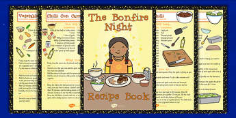 Bonfire Night Recipe Booklet - Bonfire, Night, Food, Recipe, Cook
