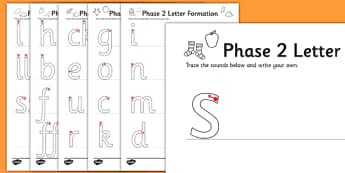 Phase 2 Letters and Sounds Formation Worksheets - phase 2, letters, sounds, formation