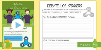 Pack de recursos: Debate - Los 'Spinners' - spinner, spinners, debate, debatir, conversar, conversación, hablar, discutir, asamblea, tutorial,