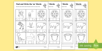 Find and Write the ou Words Differntiated Differentiated Activity Sheets - Find and Write Differentiated Activity Sheet Pack - find and write, differentiated, find, write, wri