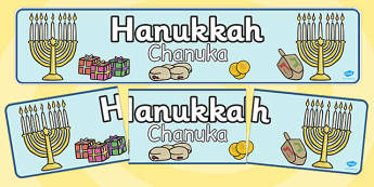 Judaism Hannukah Display Banner Polish Translation - hannukah, channukah, jewish, festival, judaism, celebration, religion, re, culture