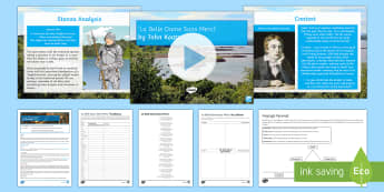 Secondary - English - GCSE Poetry Lesson Pack  to Support Teaching on 'La Belle Dame Sans Merci' by John Keats  - Keats, La Belle, Romantics, Ballad, Edexcel, Poetry anthology, relationships, gcse, exam preparation