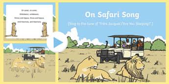 On Safari Song PowerPoint