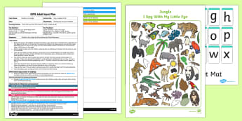 I Spy a Jungle Animal EYFS Adult Input Plan - input plan, jungle