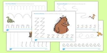 The Gruffalo Pencil Control Worksheets - the gruffalo, pencil control, pencil control worksheets, worksheets, the gruffalo worksheets, fine motor skills