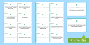 Early Finishers Challenge Cards - Spanish, Vocabulary, revision, early, finishers, challenge, tasks, cards, activities, independent le