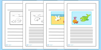 Story Writing Frames to Support Teaching on Sharing a Shell - writing template, write
