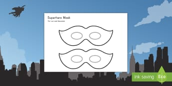 Design a Superhero Role-Play Mask  - superhero, mask, decorate, art, design, craft