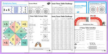 KS2 Times Tables Bumper  Activity Pack
