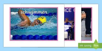 Meine Hobbies Poster DIN A4 - Sport, Hobbies, Hobby, DAZ, DAF, Poster, Sprachen lernen,German