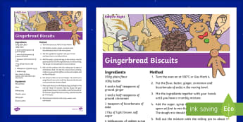 Ginger Biscuit Recipe Cards - Ginger, Biscuit, Recipe, Card, Food