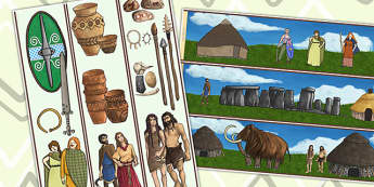 Stone Age to the Iron Age Display Borders - stone age, iron age