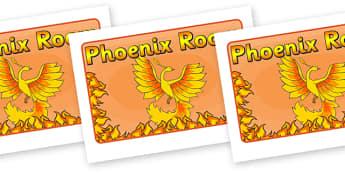 Phoenix Room Sign -  Phoenix, room sign, sign, poster, A4