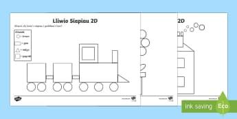 Lliwio Siapiau 2D - Siâp 2D, defnyddio sgiliau geometreg, Siâp, siap, Siap, enwau siapiau 2D, cylch, Cylch, Sgwar, sgw