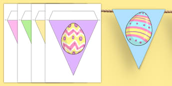 Easter Egg Bunting - easter, bunting, easter display, religion