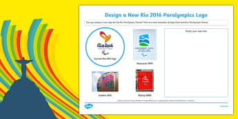 Rio 2016 Paralympics Design a New Logo SEN Activity Sheet, worksheet