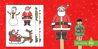 Marionetas de palo -  La Navidad - juego simbólico, imaginación, navidad, navideño,Spanish, marionetas de palo - juego simbólico, imaginación, navidad, navideño,Spanish, marionetas de palo