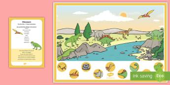 Dinosaurs Can You Find...? Poster and Prompt Card Pack - Dinosaurs, fossils, skeletons, prehistoric