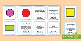 2D Shape Matching Cards English/Romanian - 2d, shape, matching, cards, match, 2Dshape, shaoe, matching, eal