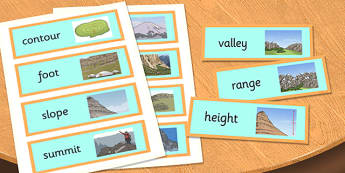 Magnificent Mountains Word Cards - magnificent, mountains, word cards