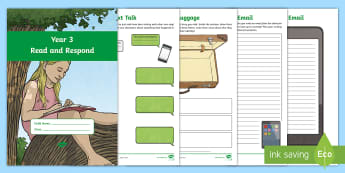 Year 3 Reading Response Activity Booklet - Y3, LKS2, Comprehension, Understanding, worksheets, home
