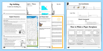 KS2 Summer Fun in the Holidays: Days Out Activity Pack  - outdoor, games, sports, family fun, puzzles, quizzes, children's entertainment