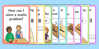 Solving Maths Problems Strategy Poster - solving maths, strategy poster, solving maths poster, maths problems, solving maths problems poster