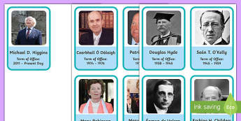 Presidents of Ireland Flashcards