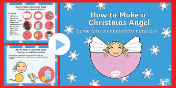 Christmas Angel Craft Activity PowerPoint English/Italian  - Christmas Angel Craft Activity Powerpoint - christmas, christmas craft, christmas crafts, christmas