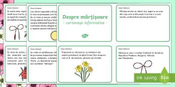 Despre mărțișoare Cartonașe informative - Spring, primăvară, primăvara, mărțișor, cartonașe, mărțișoare, romanian, 1 Martie, martie,
