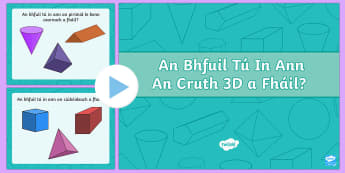 Can you Find the 3D Shape PowerPoint - roi, ireland, republic of ireland, 3D shapes, shapes, shape games, shape activities, powerpoint, shape powerpoint, 3D shape powerpoint, numeracy
