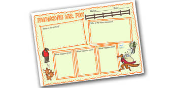 Book Review Writing Frame to Support Teaching on Fantastic Mr Fox - fantastic mr fox, book review, writing frame, book, review, writing, literacy, writing template, writing aid