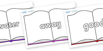 Next 200 Common Words on Books - Next 200 Common Words on  - DfES Letters and Sounds, Letters and Sounds, Letters and sounds words, Common words, 200 common words