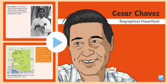 Cesar Chavez Biographical PowerPoint - Cesar Chavez, Cesar Chavez Day, Latino Civil Rights, Civil Rights, Migrant Workers, Migrant Farm Wor