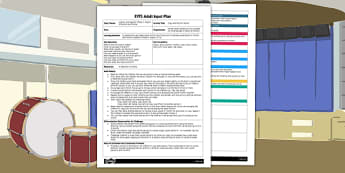 EYFS Copy Me Rhythm Game Adult Input Plan - EYFS, Early Years planning, adult led, Letters and Sounds, music, listening game, phonics, Phase 1, aspect 4