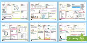 Year 2 Summer Maths Activity Mats - independent, place value, number, money, measurement, calculations, word problems