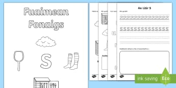 Fuaimean Fonaigs S Duilleagan-Obrach - Cfe, Early Level, First Level, Letters, Sounds, Phonics, Gaelic Sounds, Gaelic Alphabet,Scottish
