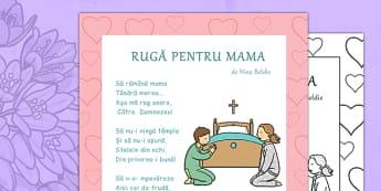 Poezie Ruga pentru Mama, Nina Beldie - ziua mamei, martie